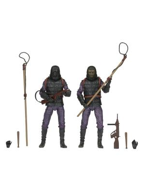 Planet of the Apes - 7 Action Figure Classic Gorilla Soldier 2 Pack Neca. Цвет: серый