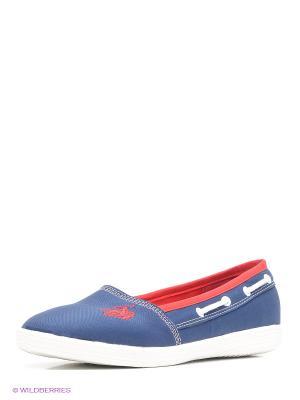 Балетки U.S. Polo Assn.. Цвет: синий, белый