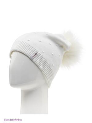 Шишка Беркле шапка женская с помпоном Berkle. Цвет: белый