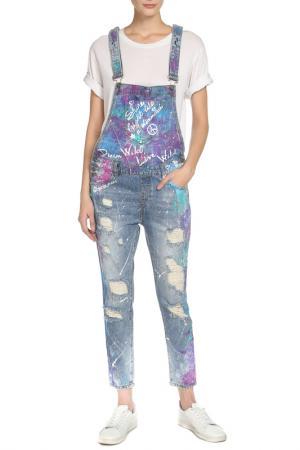 Комбинезон джинсовый DREAMERS. Цвет: голубой
