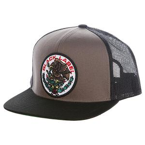 Бейсболка с сеткой  Super Mex Trucker Hat Black Label. Цвет: серый,черный,зеленый