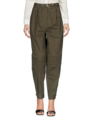 Повседневные брюки BELSTAFF. Цвет: зеленый-милитари