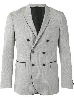 Двубортный пиджак с узором Tonello. Цвет: чёрный