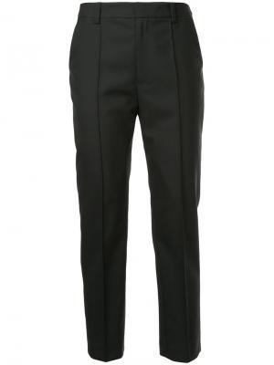 Укороченные строгие брюки Le Ciel Bleu. Цвет: чёрный