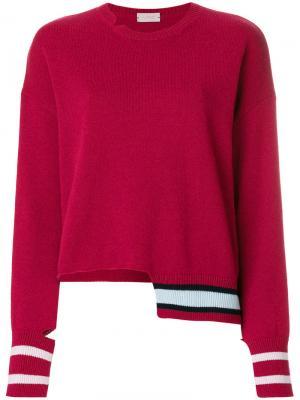 Джемпер с заниженной линией плеч MRZ. Цвет: розовый и фиолетовый