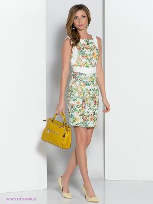 Платье adL. Цвет: белый, зеленый