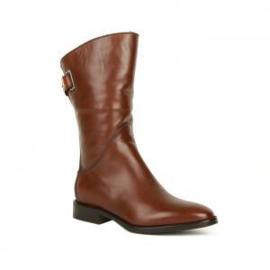 Кожаные сапоги с широким голенищем от итальянского бренда Berto Giantin