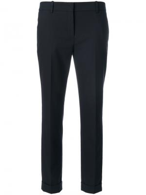 Cropped trousers The Kooples. Цвет: синий
