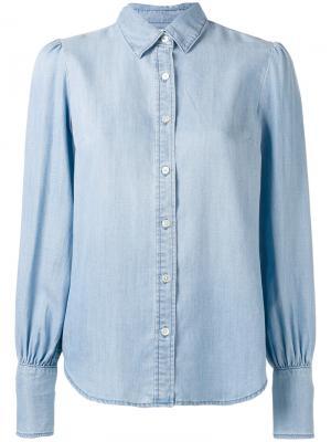 Классическая рубашка Frame Denim. Цвет: синий