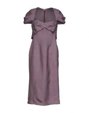 Платье длиной 3/4 6267. Цвет: розовато-лиловый
