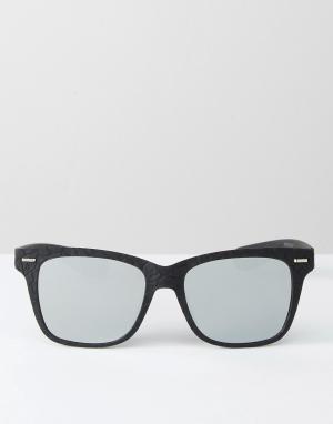 7X Черные квадратные солнцезащитные очки. Цвет: черный