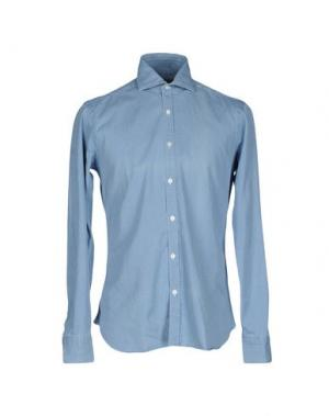 Pубашка DANDYLIFE BY BARBA. Цвет: пастельно-синий