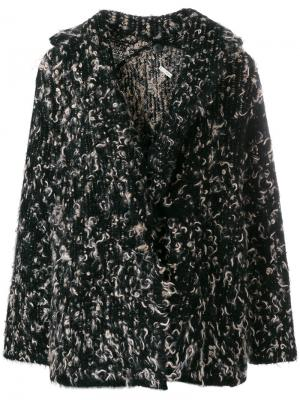Твидовый пиджак Boboutic. Цвет: чёрный