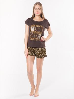 Пижама Startale. Цвет: коричневый