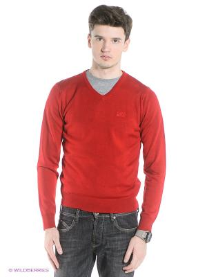 Пуловер Think Pink. Цвет: темно-бордовый
