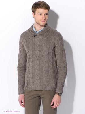 Пуловер Oodji. Цвет: серо-коричневый