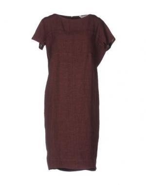 Платье до колена GUGLIELMINOTTI. Цвет: какао