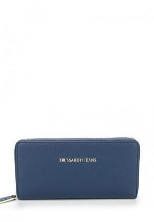 Кошелек Trussardi Jeans. Цвет: синий