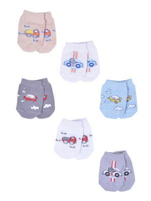 Носки детские,комплект 6шт Malerba. Цвет: серый, голубой
