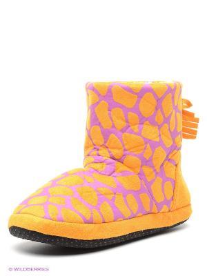 Тапочки Burlesco. Цвет: светло-оранжевый, фиолетовый