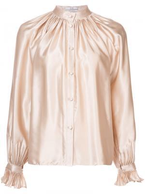 Блузка металлик на пуговицах Co. Цвет: телесный