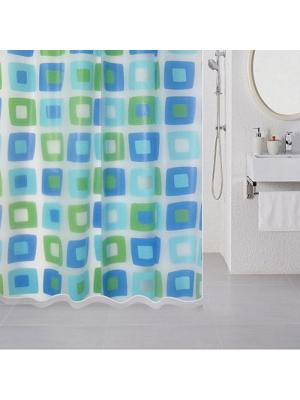 Штора для ванной Milardo. Цвет: голубой, зеленый