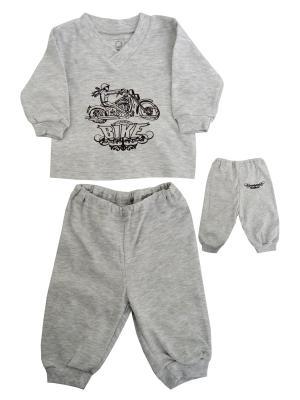 Пижама NICE-KID. Цвет: светло-серый