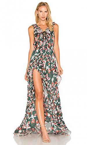 Платье oksana Tanya Taylor. Цвет: зеленый