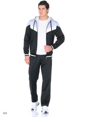 Спортивный костюм ADDIC. Цвет: черный, светло-серый
