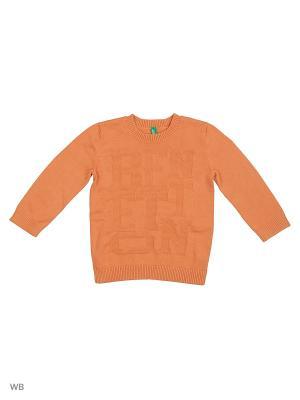 Джемпер United Colors of Benetton. Цвет: оранжевый, темно-фиолетовый, серебристый