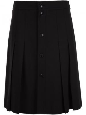 Плиссированная юбка A.P.C.. Цвет: чёрный