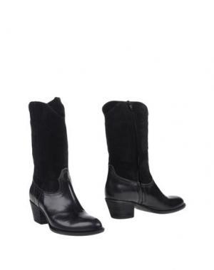 Полусапоги и высокие ботинки PROGETTO GLAM. Цвет: черный