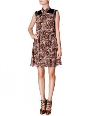 Шелковое платье-рубашка Proenza Schouler. Цвет: красный
