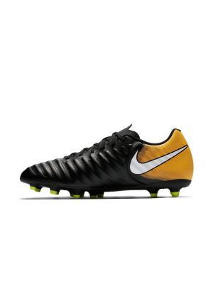 Бутсы TIEMPO RIO IV FG Nike. Цвет: черный, белый, оранжевый