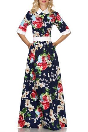 Платье Olivegrey. Цвет: сине-малиновый