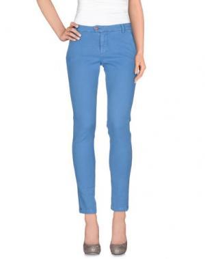 Повседневные брюки BONHEUR. Цвет: лазурный