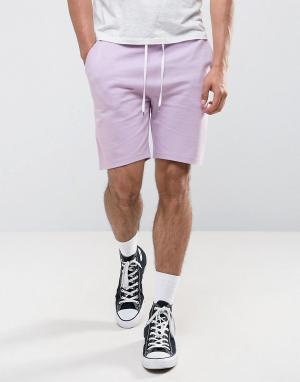ASOS Сиреневые трикотажные шорты зауженного кроя. Цвет: фиолетовый