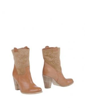 Полусапоги и высокие ботинки TWO 6 SHOES. Цвет: бежевый