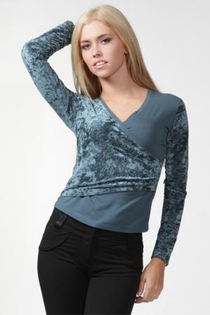 Блузка Ikiler. Цвет: бирюзовый