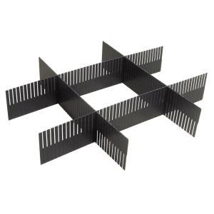 Органайзер для ящика комода (4 планки) La Redoute Interieurs. Цвет: прозрачный,серый