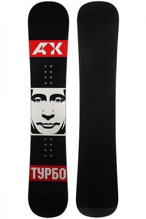 Сноуборд  Putin Black/White/Red Turbo-FB. Цвет: черный,белый,красный