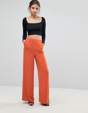 Missguided Широкие брюки. Цвет: оранжевый
