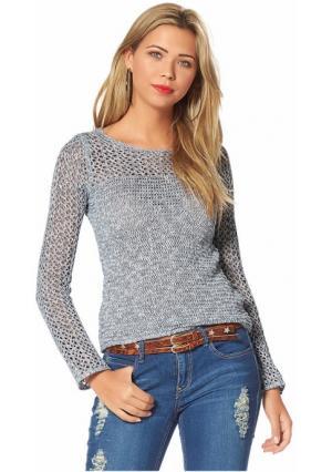Пуловер AJC. Цвет: индиго/экрю