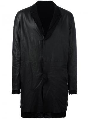 Пальто с необработанными краями Salvatore Santoro. Цвет: чёрный