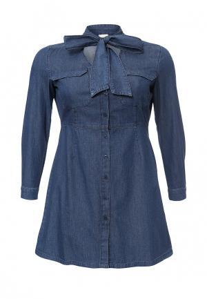 Платье Just Joan. Цвет: синий