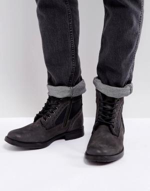 Steve Madden Серые ботинки броги Gannon. Цвет: серый