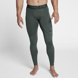 Мужские тайтсы для тренинга  Pro HyperWarm Nike. Цвет: зеленый
