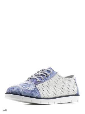 Туфли ELITE. Цвет: белый, синий
