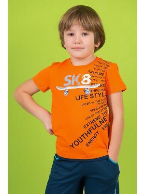 Футболка Detiland. Цвет: оранжевый