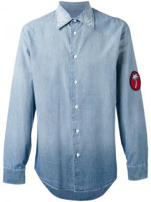 Джинсовая рубашка с нашивкой Marc Jacobs. Цвет: синий
